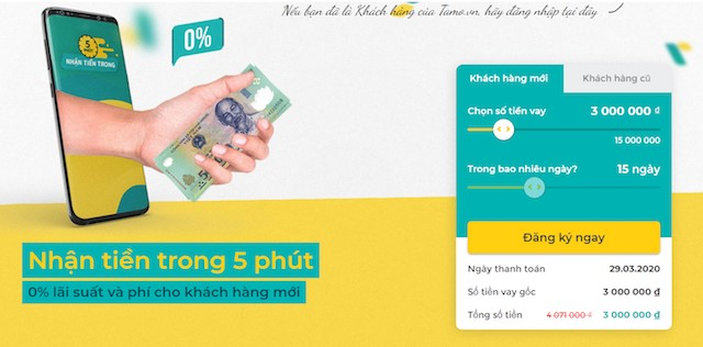 Vay tiền online nhanh trong ngày 24/24 uy tín qua chuyển khoản tại các tổ chức tín dụng