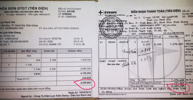 Có nên vay tiền bằng hóa đơn điện không?